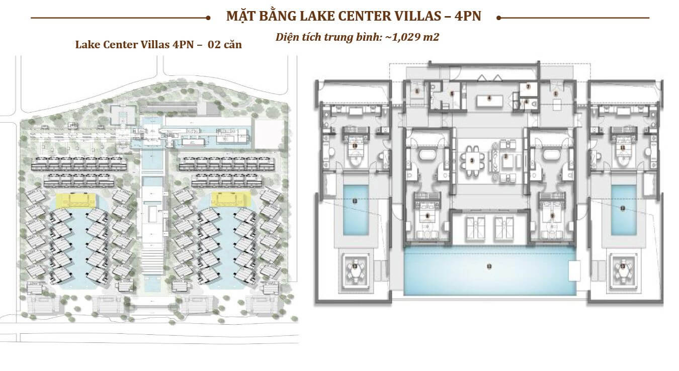 MẶT BẰNG CENTER VIEW VILLAS 4 PN