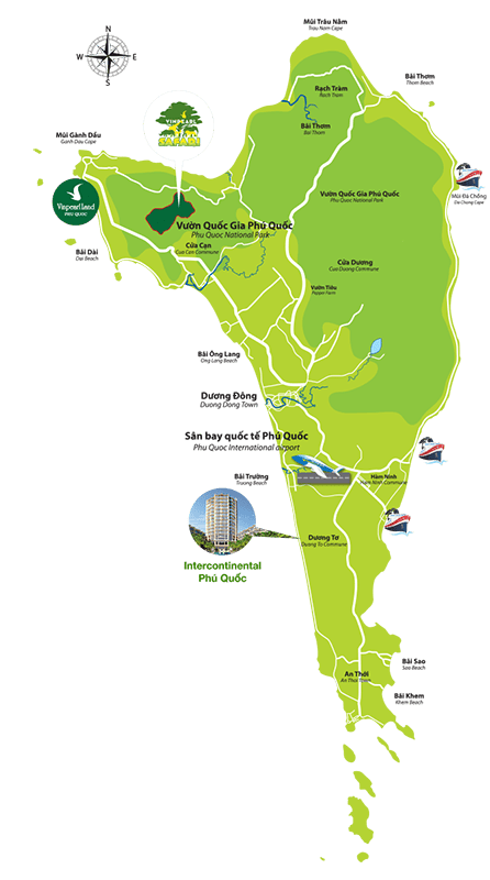 Vị trí dự án InterContinental Phú Quốc - Marina
