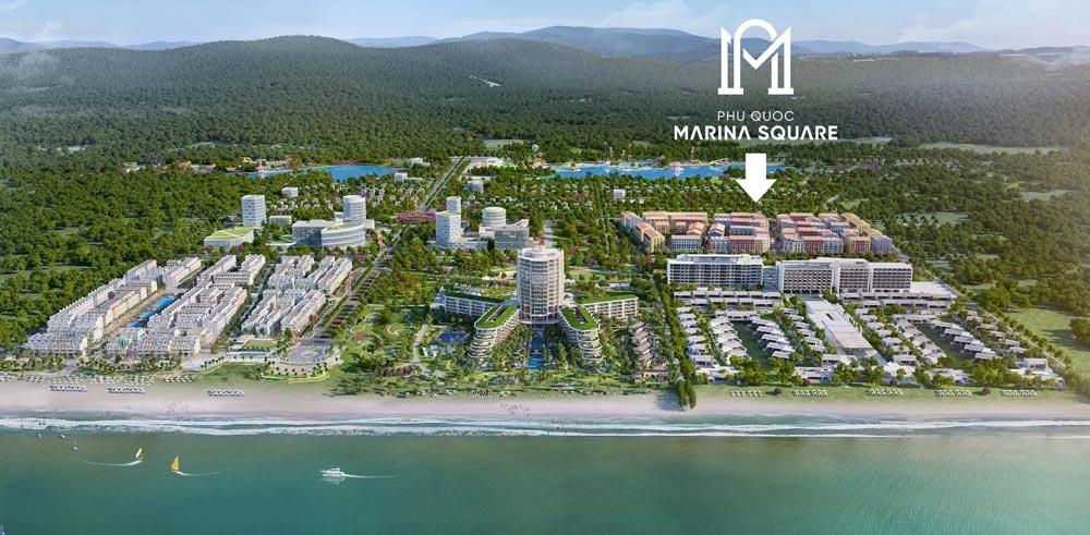 Vị trí dự án Marina Square Phú Quốc
