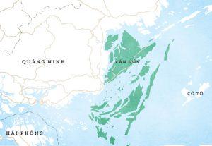 Bản đồ đặc khu kinh tế Vân Đồn