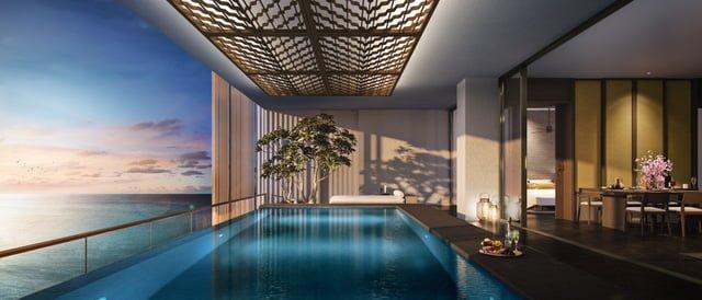 Toàn bộ 42 căn Sky Villas có tầm nhìn hướng biển trực diện đắt giá