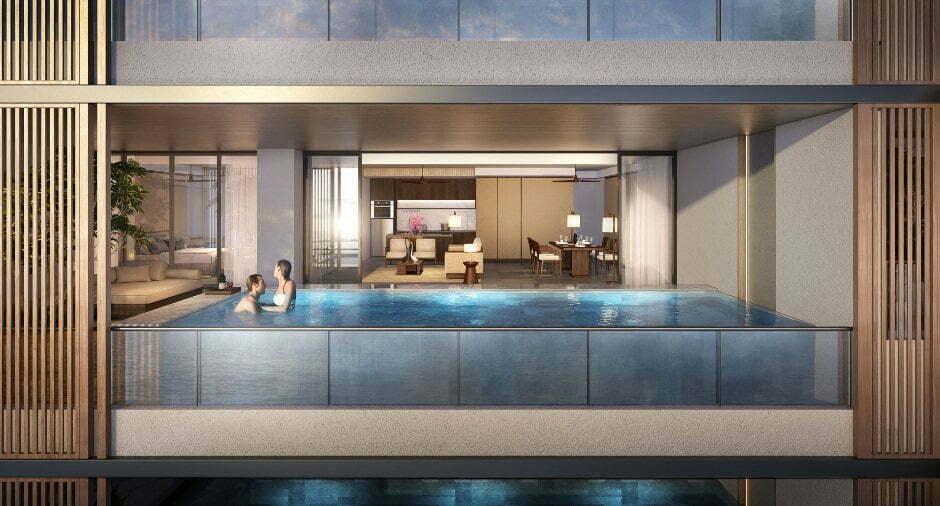 Mỗi căn Sky Villas tại Regent Residences Phu Quoc đều sở hữu tầm nhìn rộng mở với hồ bơi vô cực riêng