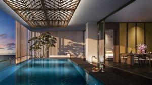 Hồ bơi sang trong Sky Villas Phú Quốc