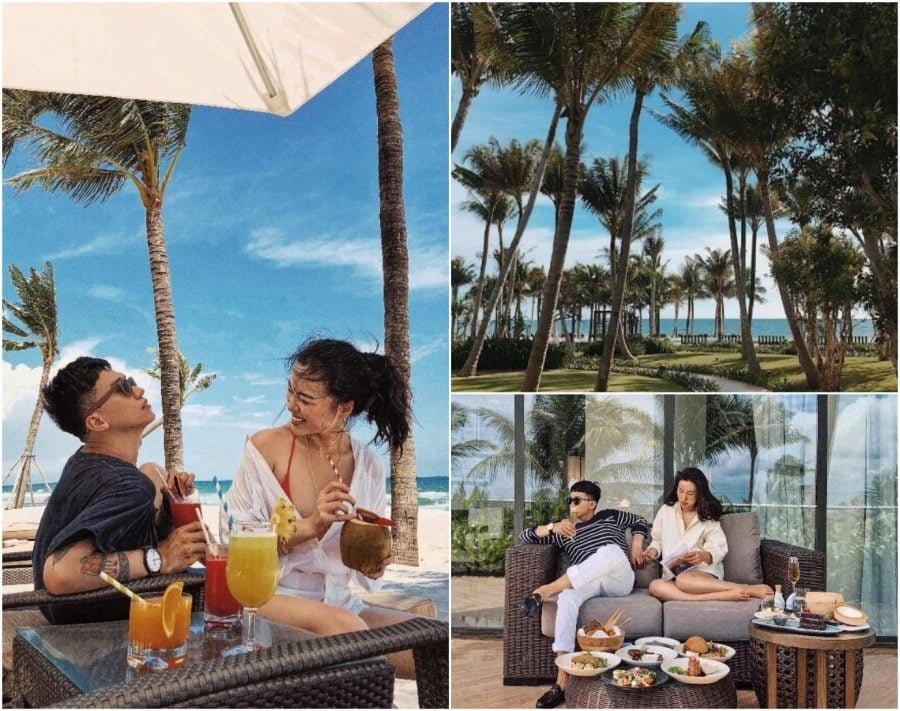Dùng bữa ngay tại ban công rộng rãi trong phòng nghỉ. Dịch vụ In-room Dining của các khách sạn resort 5 sao rất tuyệt vời và được các rich kids ưa thích.