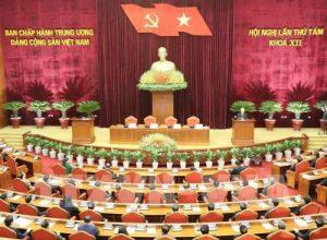 Hội nghị lần thứ tám Ban Chấp hành Trung ương Đảng Cộng sản Việt Nam khóa XII. Ảnh: Trí Dũng –TTXVN