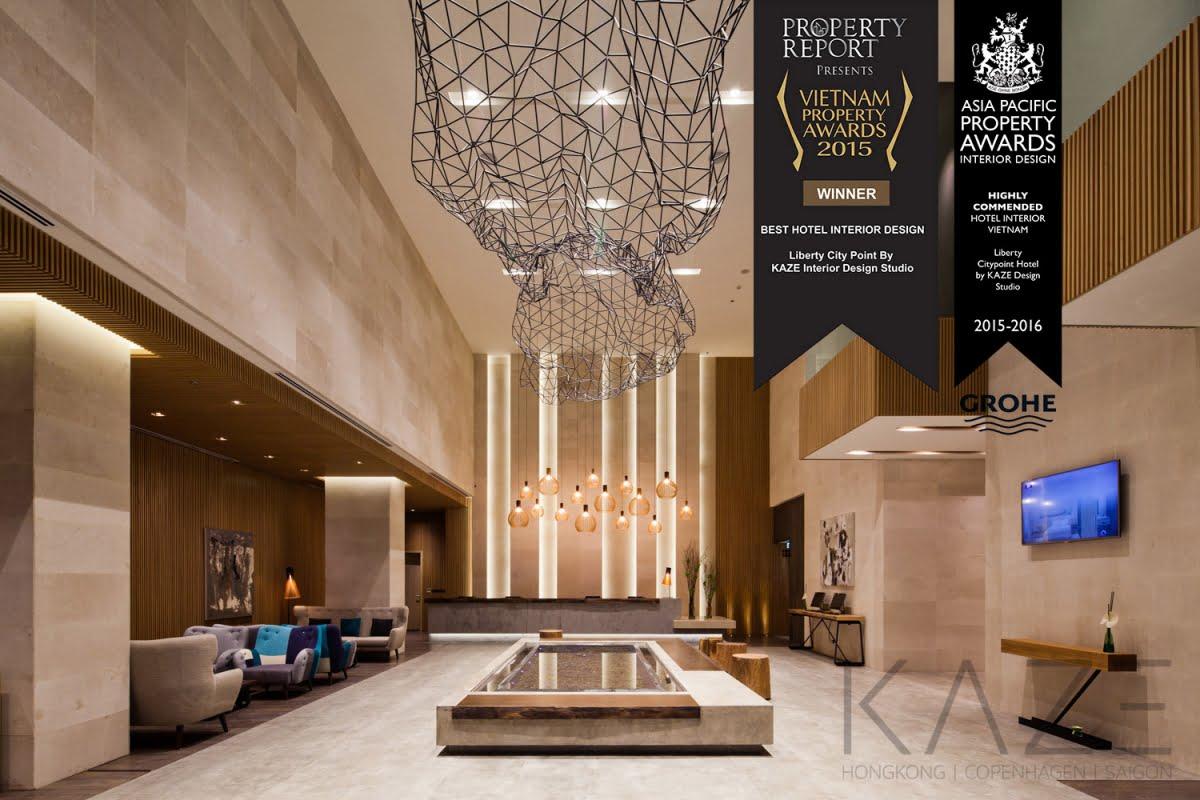 Giải Asia Pacific Property Awards về hạng mục thiết kế nội thất trong cho dự án Liberty Central Saigon Citypoint tại TP.HCM năm 2016