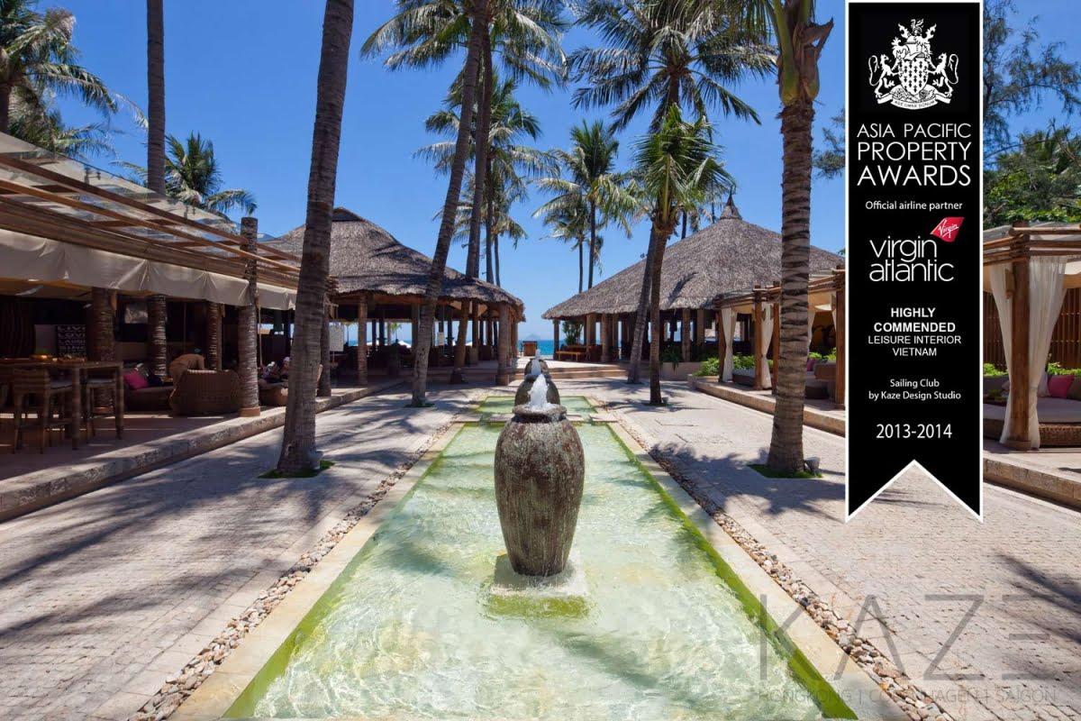 nhận giải thưởng Asia Pacific Property Awards cho hạng mục Leisure Interior cho dự án Sailing Club Nha Trang năm 2016