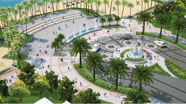 Thu hút lượng khách đông đảo bởi khuôn viên diện tích rộng và nằm sát ngay cạnh bờ biển tại Bãi Trường Phú Quốc