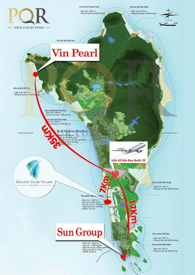 Dự án biệt thự vườn Sailing Club Villas kết nối dễ dàng và nhanh chóng tới các khu vực khác tại Phú Quốc