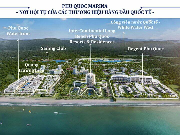 Địa điểm các dự án lớn tại khu phức hợp thương mại Phu Quoc Marina