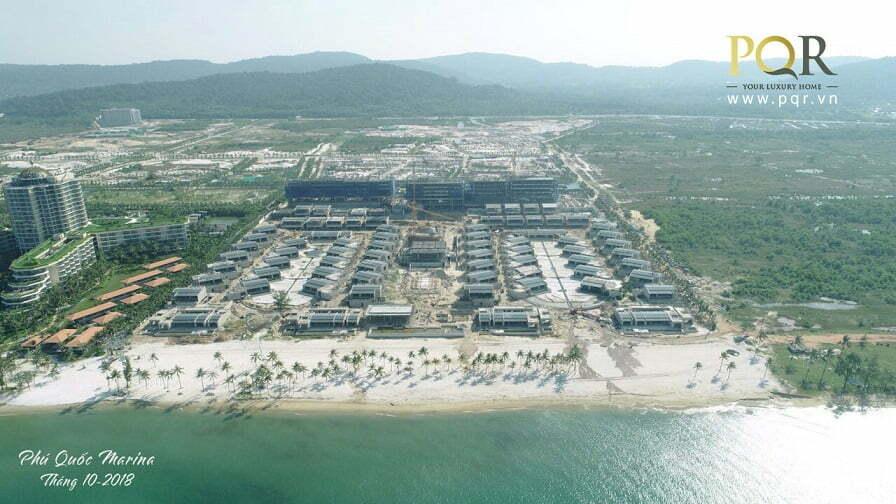 Cập nhật tiến độ dự án Phu Quoc Marina mới nhất tháng 10, 11/2018