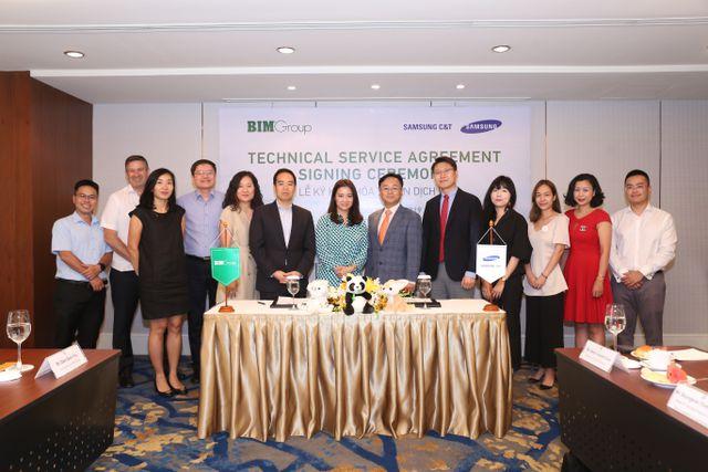 Bim Group kí kết thỏa thuận dịch vụ kỹ thuật với Samsung C&T nhằm phát triển dự án công viên nước Phu Quoc Marina