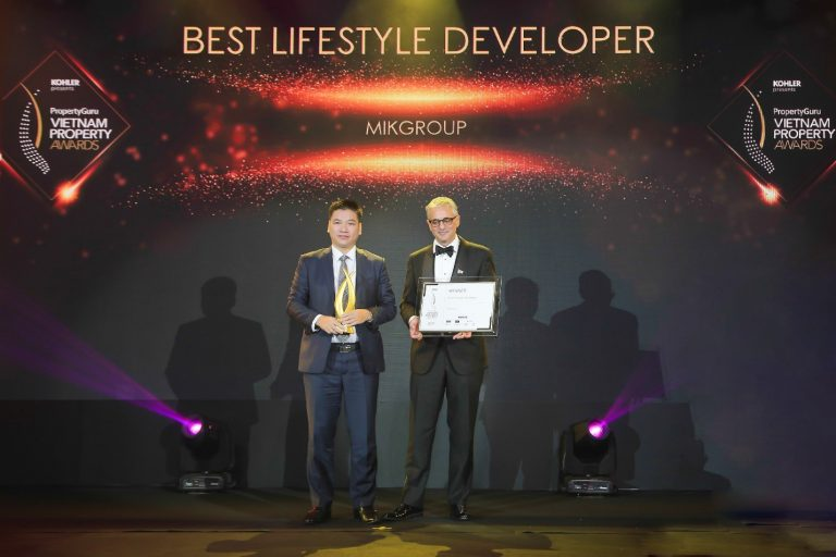 MIKGroup được Vietnam Property Adwards vinh danh nhà phát triển bất động sản phong cách sống tốt nhất