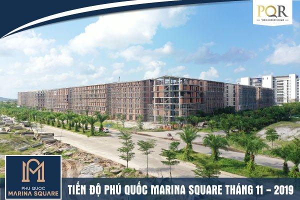 Tiến độ Phu Quoc Marina Square Tháng 11/2019