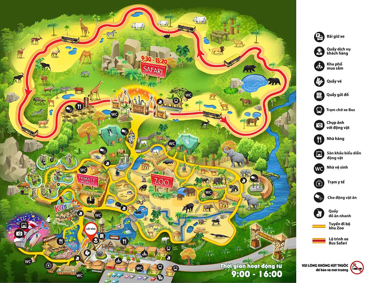 Bả đồ Vinpearl Safari Phú Quốc