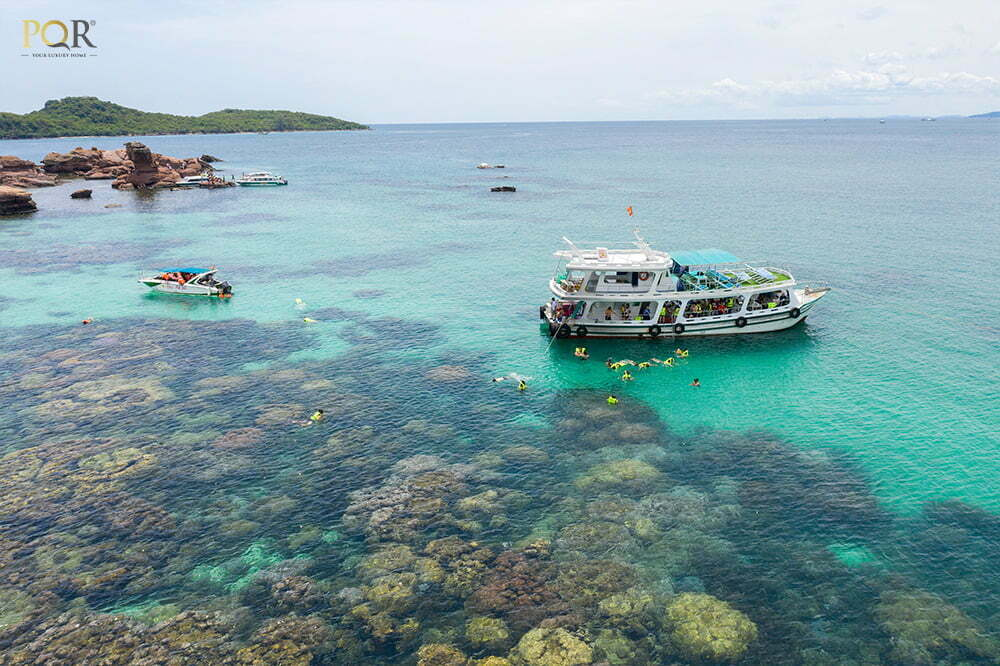 Một ngày trải nghiệm câu cá, lặn ngắm san hô của gia đình PQR tại Hòn Gầm Ghì Phú Quốc