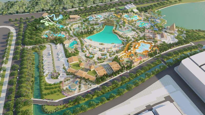 Công viên nước chuẩn quốc tế đầu tiên Phu Quoc Marina do tập đoàn Samsung vận hành tại Phú Quốc